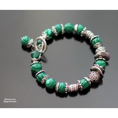 """Замок - тоггл из 2х частей """"Узор"""" (цвет - античное серебро) 19х16 мм, 25 мм (Малахитовый браслет. Пример)"""