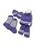 Вязаный комплект - Фиолетовый. Одежда для кукол, пупсов и мягких игрушек.