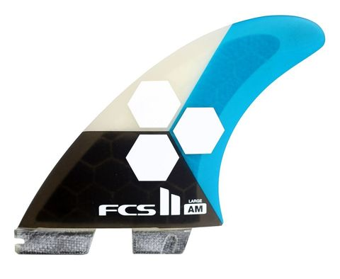 Плавники FCS II AM PC Large Teal Tri-Quad Retail Fins компл. из пяти L