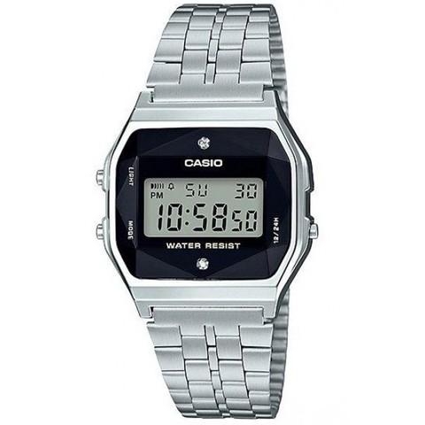 Купить Электронные часы Casio A-159WAD-1D с бриллиантами по доступной цене