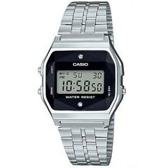 Электронные часы Casio A-159WAD-1D с бриллиантами