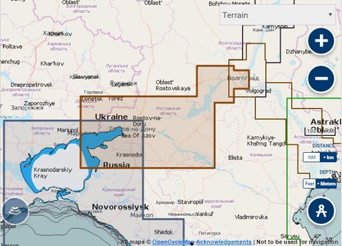 Карта: Волго-Донской канал, нижний Дон, Navionics+ Small 5G631S2