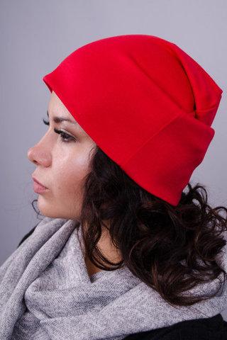 Фэшн. Молодёжные женские шапки. Красный.