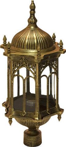 Светильник садово-парковый, 60W 230V E27 черное золото, PL114 (Feron)