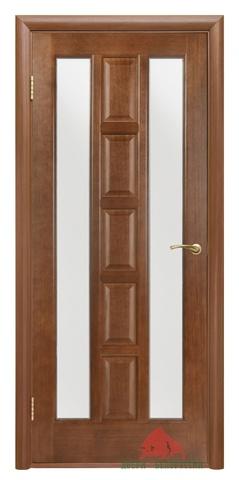 Дверь Двери Белоруссии Квадро ПОО, цвет каштан, остекленная