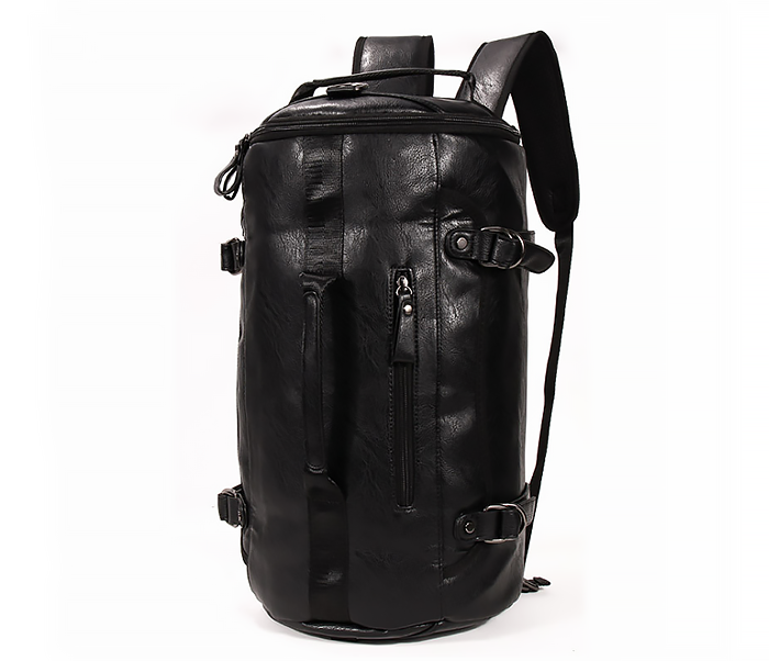 BAG427-1 Мужской рюкзак трансформер из кожи черного цвета фото 01