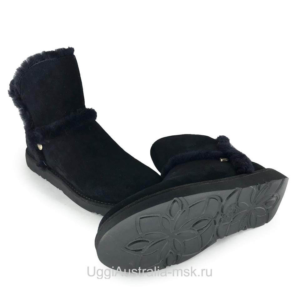 UGG Luxe Spill Seam Mini Boot Black