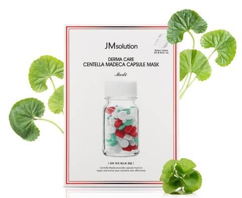 Успокаивающая тканевая маска с центеллой азиатской, 30 мл / JMSolution Derma Care Centella Madeca Capsule Mask