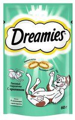 DREAMIES лакомство для кошек подушечки с паштетом со вкусом кролика 60гр
