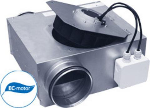 Низкопрофильные канальные вентиляторы Ostberg 125 С1 ЕС серии LPKB Silent в изолированном корпусе для круглых воздуховодов