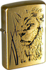 Зажигалка ZIPPO Proud Lion Brushed Brass золотисто мат (204B Proud Lion)