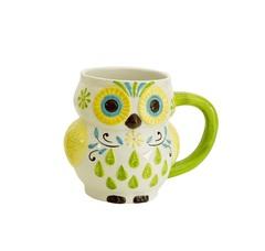 Кружка Boston Warehouse Floral Owl зеленая