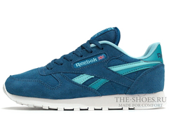 Кроссовки Женские Reebok Classic Leather Aqua Blue Suede