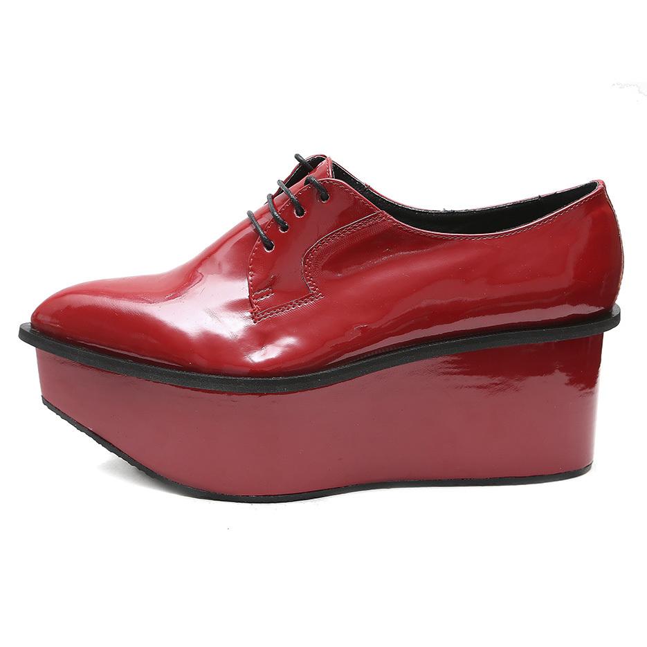 Ботинки «STRELA PLATFORM LAK RED»