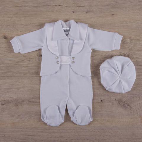 Нарядный костюмчик для мальчика с беретом белый