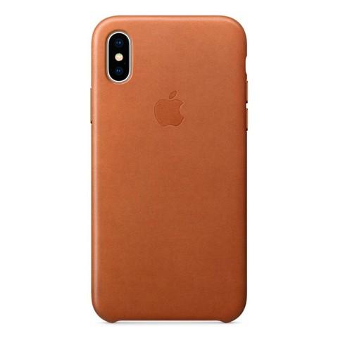 Чехол iPhone X/XS Leather Case /saddle brown/