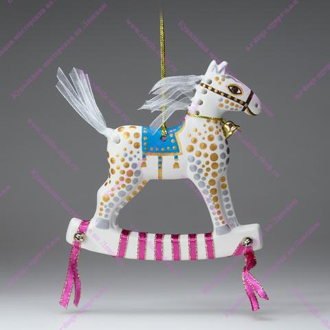Игрушка фарфоровая плоская - Лошадка