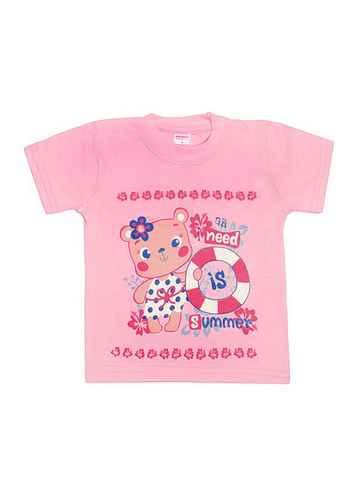 DL11-1-26 Футболка детская, светло-розовая