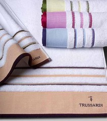 Набор полотенец 2 шт Trussardi Funny белый с красной полосой