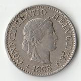 1905 SR1882 Швейцария 5 раппен