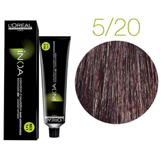L'Oreal Professionnel INOA 5.20 (Светлый шатен интенсивный перламутровый) Краска для седых волос 60 мл.