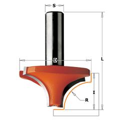 Фреза с внутренним радиусом R=8 S=8 D=28,6x12,7