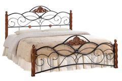 Кровать FD 881 200x160 (MK-1915-RO металл) Темная вишня