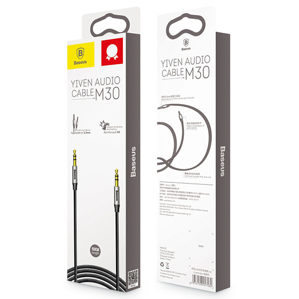 Аудио кабель Baseus M30 Yiven Audio Cable - AUX - 1.5м упаковка