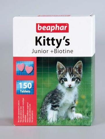 12596 Беафар Витамин Китти Юниор Сердечки д/котят 1000таб.  *6