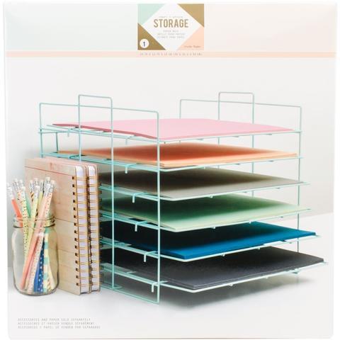 Органайзер для хранения бумаги- Desktop Storage Paper Rack Crate Paper
