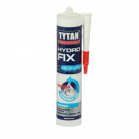 Клей монтажный Hydro Fix акрилатный прозрачный 310мл Tytan