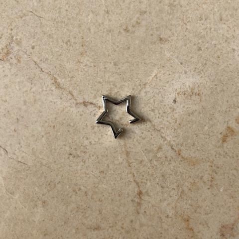 Кафф Звезда, серебряный цвет