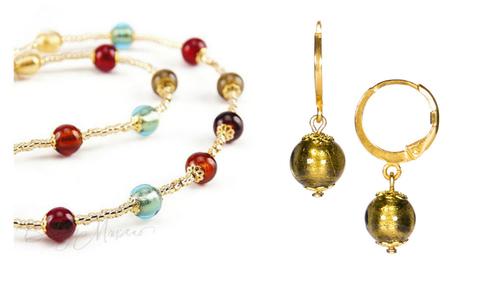 Комплект Carnavale Oro Piccolo (бронзовые серьги Piccolo, ожерелье)