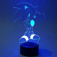 3D светильник с пультом Соник — 3D light remote control Sonic