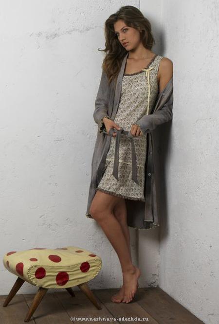 Домашнее платье из хлопка Rebecca & Bros