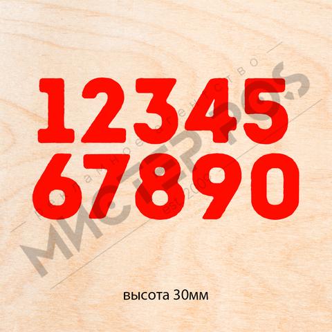 Цифры ровные из фанеры 3-4 мм высота 30 мм