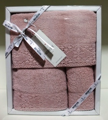 Набор полотенец  NATURELLA - НАТУРЕЛЛА 3пр 30х50 50х90 и 70х140 Maison Dor (Турция)
