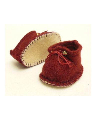 Ботиночки из фетра - Бордовый. Одежда для кукол, пупсов и мягких игрушек.