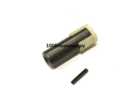 Переход вала для электротриммера квадрат 5.1мм/ шплинт