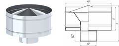 Дефлектор TMF ф120, 0,5мм нерж