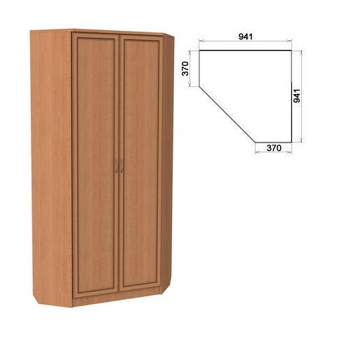 Шкаф угловой со штангой и полками (Гарун-401)