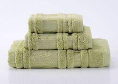 Bamboo CL-7  светло-зеленое бамбуковое махровое  полотенце Valtery