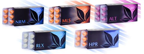 APL. Набор драже 9 коробок NRM+MLS+ALT+ RLX+HPR для снижения уровня сахара и защиты от стресса