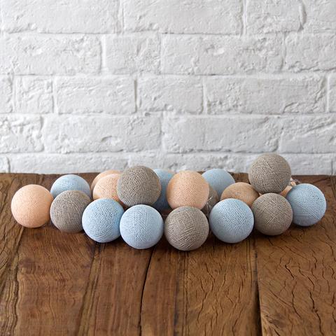 Гирлянда из хлопковых шариков Мила
