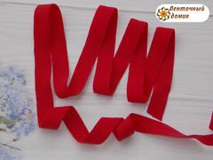 Резинка бейка трикотажная красная 16 мм