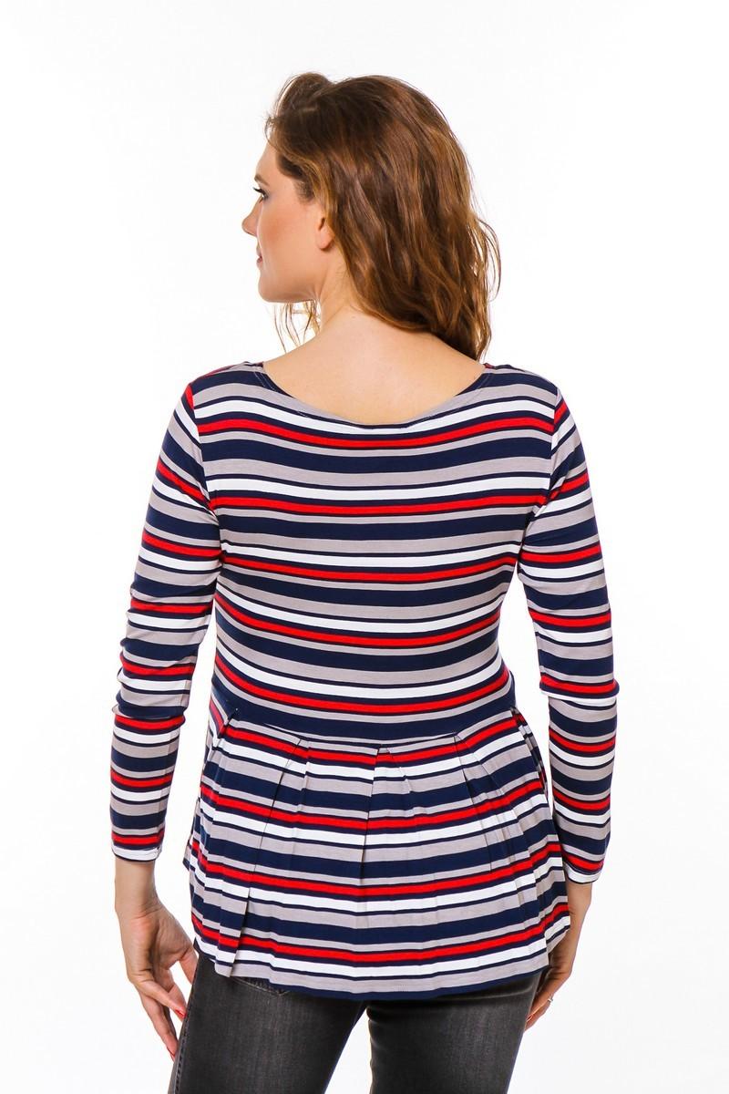 Блузка 08753 красный-синий
