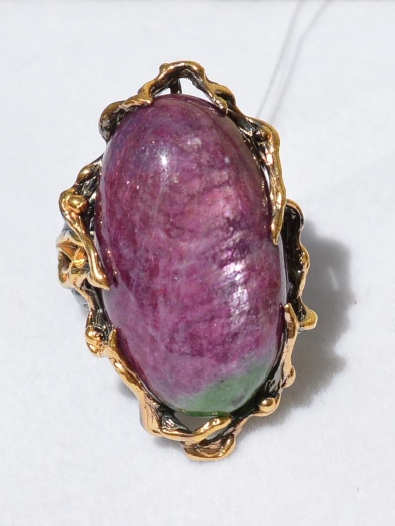 Мелани (серебряное кольцо с позолотой)