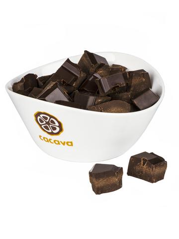 Тёмный шоколад 70 % какао, на эритрите, внешний вид