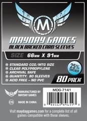 Протекторы Mayday: 66*91мм (Black Backed) (80)