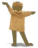 Вязаное пальто - Демонстрационный образец. Одежда для кукол, пупсов и мягких игрушек.